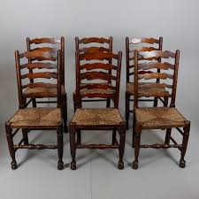 A SET OF SIX OAK, ASH AND ELM LADDER BACK CHAIRS. Furniture ... 6 Ladder Back Chairs In Great Boughton For 9000 Sale Birch Ladder Back Rush Seated Rocking Chair Antiques Atlas Childs Highchair Ladderback Childs Highchair Machine Age New Englands Largest Selection Of Mid20th French Country Style Seat Side By Hickory Amina Arm Weathered Oak Lot 67 Set Of Eight Lancashire Ladderback Chairs Jonathan Charles Ding Room Dark With Qj494218sctdo Walter E Smithe Fniture Design A 19th Century Walnut High Chair With A Stickley Rush Weave Cape Ann Vintage Green Painted