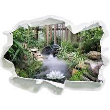 Zen Garden Japon Le Regard 3D Mur Ou Un Autocollant De Porte Format
