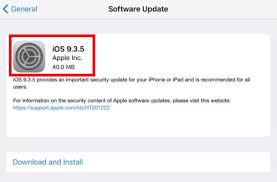 Apple Releases iOS 9 3 5 for iPhone iPad and iPod touch with an
