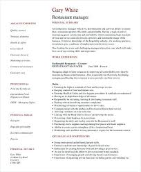 Restaurant General Manager Resume Create A Better Samples Pdf And Docx Format Right Now