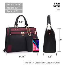 Amazon.com: Women's Two Tone Fashion Handbag For Women Top Handle ...