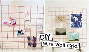 DIY Urban Outfitters Inspired Copper Wire Wall Grid