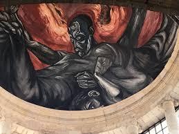 Jose Clemente Orozco Murales Hospicio Cabaas by Detalle De La Pintura De La Cúpula Fotografía De Instituto