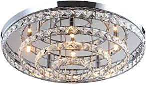 led deckenleuchte licht glas kristall kronleuchter flur leuchte deckenle lüster wohnzimmer design modern xl ø 60cm 6xg9 fassungen