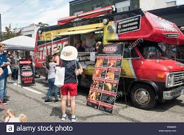 100 Vancouver Food Trucks Truck Parked On A Street Stock Photo 209677435 Alamy