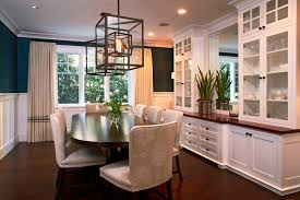 dining room built with built in china cabinets dining room