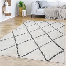 esszimmer teppich skandinavisches design abstrakt