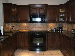 Espresso Kitchen Cabinets With Black Appliances 1