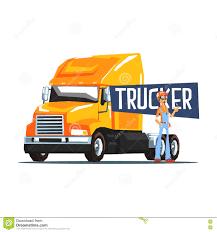 100 Truck To Trucker Er Standing Next Heavy Yellow LongDistance Stock
