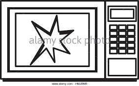 Broken microwave oven icon vector illustration design Stock Image