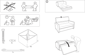 Hagalund Sofa Bed Instructions by Sofa Bed Ikea Instructions Perplexcitysentinel Com