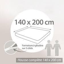 housse de matelas imperméable céline 140x200cm matelas 16 à 20cm