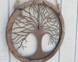 Tree Wall Decor Wood by Tree Of Life Wall Art Etsy