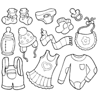 Baby Clothes Coloring Pages Surfnetkids