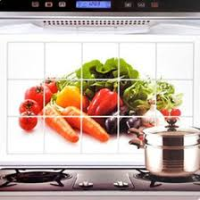New Unique Design Aluminum Foil Oil Proof Waterproof Wall Sticker Vegetables Flowers Decals Kitchen Decor Fashion House Supplies