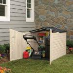 Rubbermaid Roughneck Gable Storage Shed Assembly Instructions by Door Storage Shop Rubbermaid Mon Ft X Ft Actual Interior