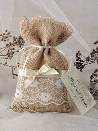 Custom Listing Lace Rustic Favor Bags Wedding Bag Burlap Thank You By Forlovepolkadots On Etsy