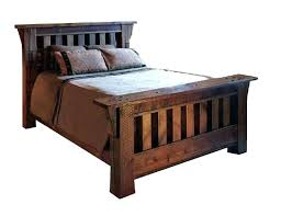 Mission Style Queen Bed Frame Rustic