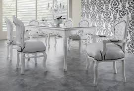 casa padrino barock esszimmer set weiß weiß esstisch 6 stühle