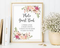 Photo Guest Book Sign Wedding Printable Ideas C1
