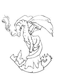 Sea Dragon Coloring Pages 600x585px