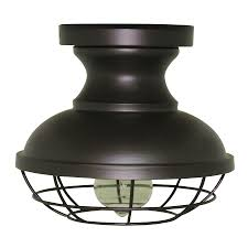 Who Makes Allen And Roth Ceiling Fans by Shop Allen Roth 8 4 In W Bronze Metal Semi Flush Mount Light At