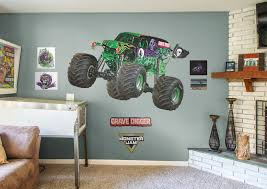100 Monster Truck Wall Decals Grave Digger Decal Construction Themed Room Monster Jam Party
