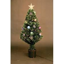 Pre Lit Christmas Tree Rotating Base by 6ft Fibre Optic Christmas Tree With Stars Christmas Lights
