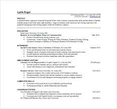 Writer Resume Template Proposal Free Service Samples