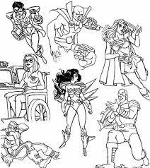 Super Villain Coloring Pages 8 Hero Squad And Evil Villains Page
