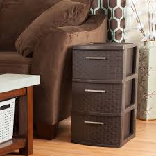 Three Drawer Filing Cabinet Dimensions by Sterilite 3 Drawer Weave Cart Espresso Available In Case Of 2 Or