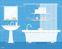 bathroom with furniture stock illustration image now