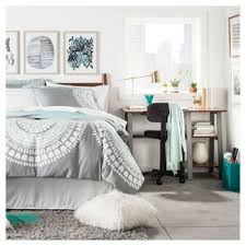 Small Space Blue Gray College Bedroom
