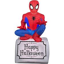 Halloween Inflatable Spider Archway by Gemmy Airblown Inflatable Halloween Spiderman Sitting On Tombstone