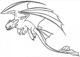 How To Train Your Dragon Coloring Pages Night Fury