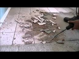 the easiest fastest and most efficient way to remove tile to