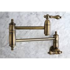 Unlacquered Brass Bathroom Faucet by Kingston Brass Ks3103al Restoration Pot Filler Vintage Brass