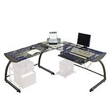 Studio Rta Desk Glass by Studio Rta The Executive Ls Desk 29 H X 70 W X 70 D Pewter By