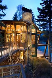 100 Johnston Architects Modern Treehouse Suspended Over A Roaring River In Old Snowmass