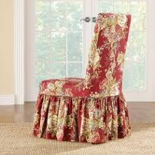 Sure Fit Folding Chair Slipcovers by Sure Fit Textured Linen Shorty Dining Room Chair Slipcover Sand