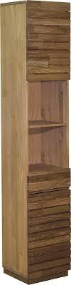 home affaire hochschrank faleria aus kiefer und eiche massiv mit dekorativen fräsungen höhe 180 cm