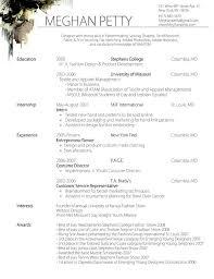 Resume For Fashion Internship