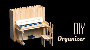 DIY Piano Pen Holder And Chair With Pop Sticks