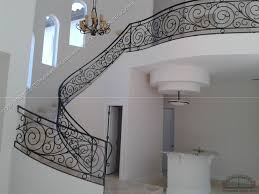 Artistic Stair Rails Design For Home Interior Ideas White Accent Wall With