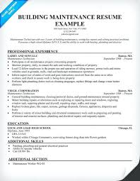 Maintenance Resume Examples Pleasant Samples The Ultimate Guide Example Good Template Sample Building Supervisor R