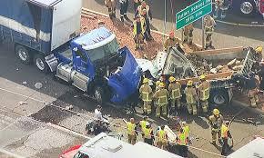 100 Sonoran Truck And Diesel Crash Involving Semitrucks And Dump Truck Near 35th And Grand Avenues