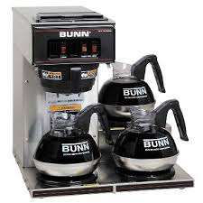 Bunn VP17 3 Commercial Pourover Brewer With Warmers