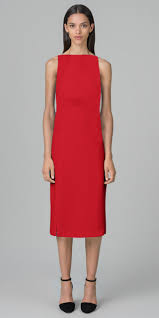 kimora lee simmons double face silk georgette dinner dress in red
