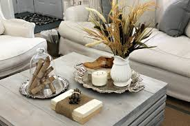 Earth Toned Brown And White Natural Element Display With Silver Accents