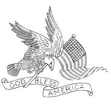 God Bless America On Fourth July Great Seal Of USA Coloring Pages